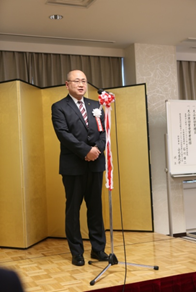 平成26年度大山激励賞 受賞挨拶の石川雄二氏
